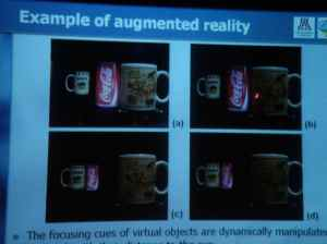 Vari-focal with liquid lens for AR