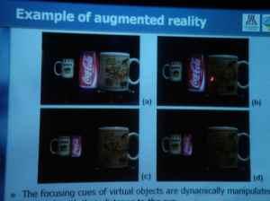 Vari-focal with liquid lens for AR
