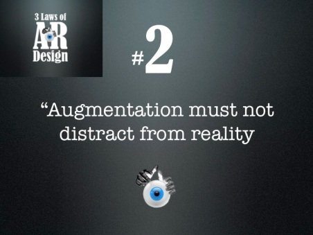 Second law of AR design